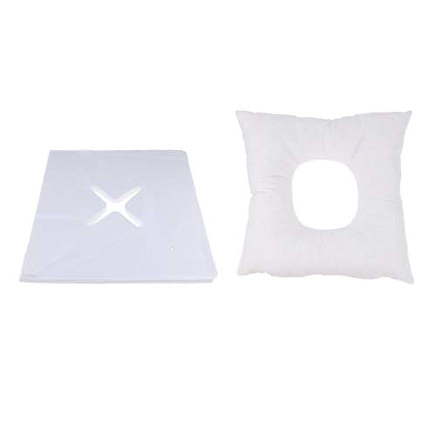 有益圧力地獄Fenteer マッサージ枕 顔枕 フェイスマット フェイスピロー 200個使い捨てカバー付 マッサージテーブル用 快適