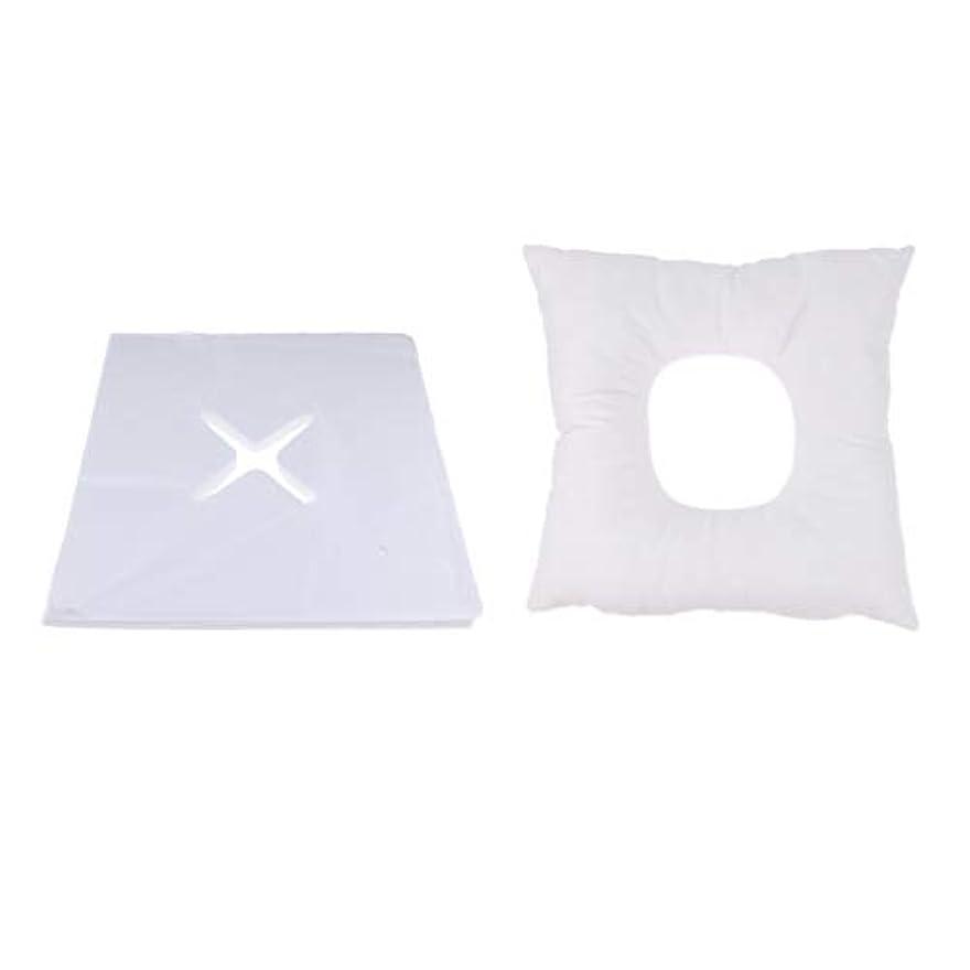 嬉しいです光沢海軍Fenteer マッサージ枕 顔枕 フェイスマット フェイスピロー 200個使い捨てカバー付 マッサージテーブル用 快適