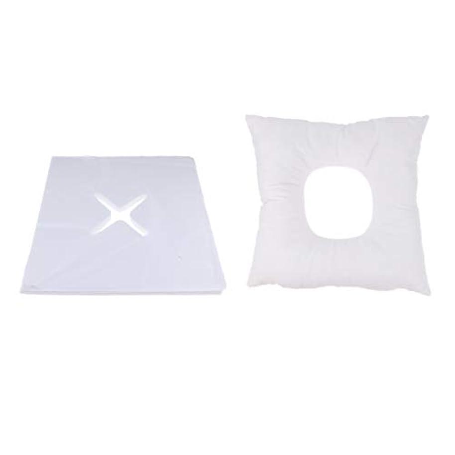 プレビスサイトおんどり食品Fenteer マッサージ枕 顔枕 フェイスマット フェイスピロー 200個使い捨てカバー付 マッサージテーブル用 快適