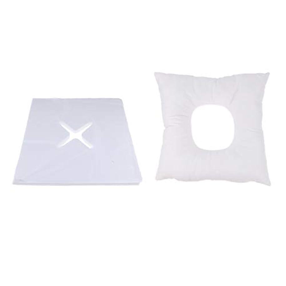 のスコア真面目なテスピアンマッサージ枕 顔枕 フェイスマット フェイスピロー 200個使い捨てカバー付 マッサージテーブル用 快適