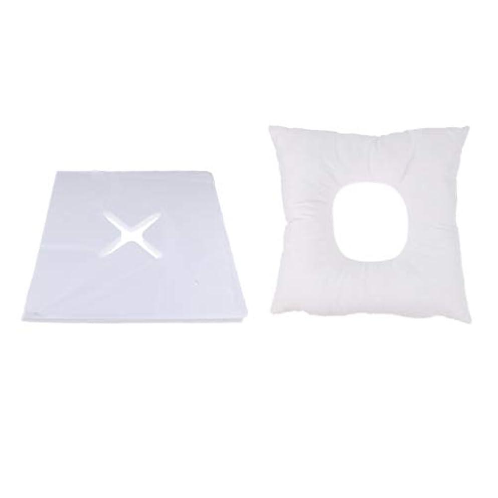 割合受信松明Fenteer マッサージ枕 顔枕 フェイスマット フェイスピロー 200個使い捨てカバー付 マッサージテーブル用 快適