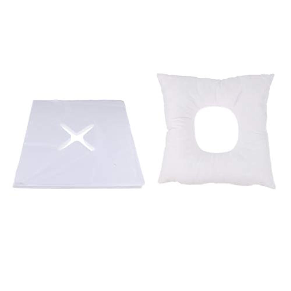 Fenteer マッサージ枕 顔枕 フェイスマット フェイスピロー 200個使い捨てカバー付 マッサージテーブル用 快適