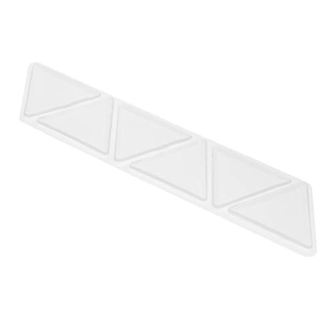 熟考する置換属性シリコーン アンチリンクル 額 パッド パッチスキンケア 三角パッド 6個セット
