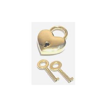 ハート型南京錠 シルバー ゴールド  (ゴールド)