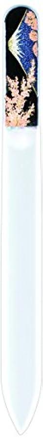 説得悪性ヒゲ橋本漆芸 ブラジェク製高級爪ヤスリ 富士に桜 紙箱
