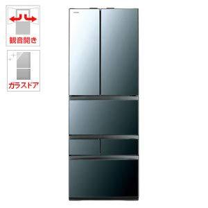 東芝 461L 6ドア冷蔵庫(クリアミラー)TOSHIBA GR-R460FZ-XK
