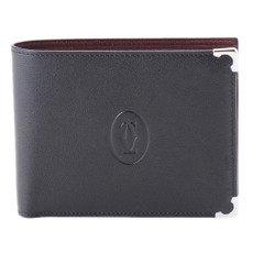 CARTIER L3000595  カボションライン 二つ折小銭入れ付き財布 ブラック(並行輸入)