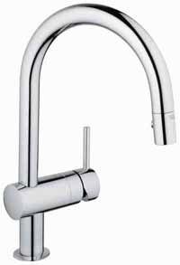 RoomClip商品情報 - 31095000グローエMINTAミンタシングルレバーキッチン混合水栓SP引出GROHE