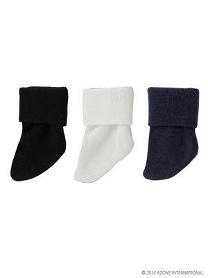 KIKIPOP! きのこプラネット 「3つ折りソックスセット」 白・黒・紺(ドール用衣装)