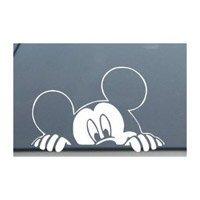 ディズニー ミッキーマウス が探している車の窓を覗く デカールステッカー-SM0008-4
