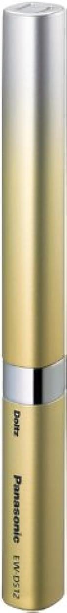 影響ビーズタオルパナソニック ポケットドルツ 音波振動ハブラシ ゴールド EW-DS12-N