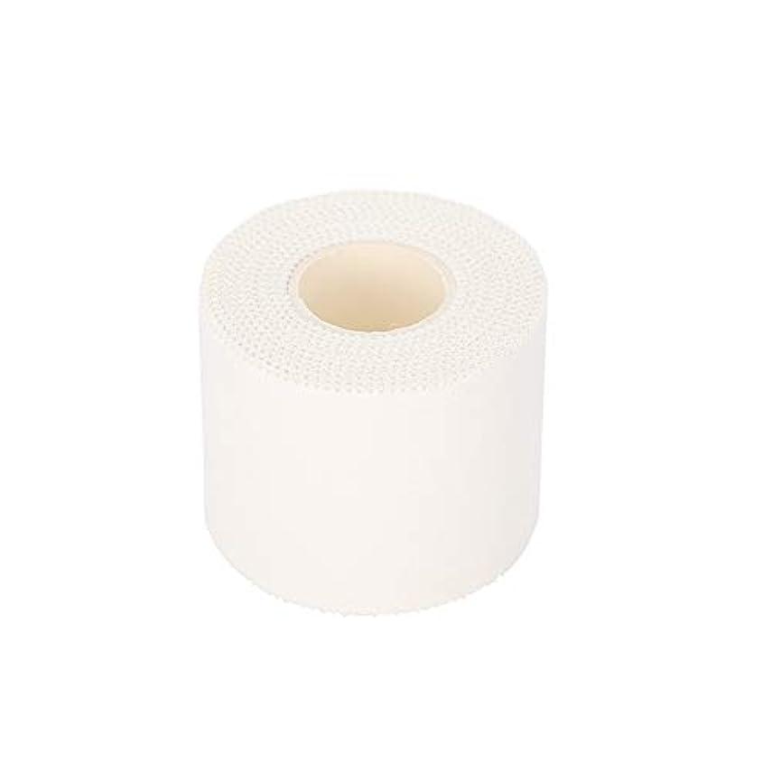 一時的コショウパーティション応急処置 包帯 ラップテープ 綿の自己接着包帯  指   手首のくるぶし 保護スポーツ フレキシブル包帯不織布 敏感肌 ホワイト (5cm*10m)