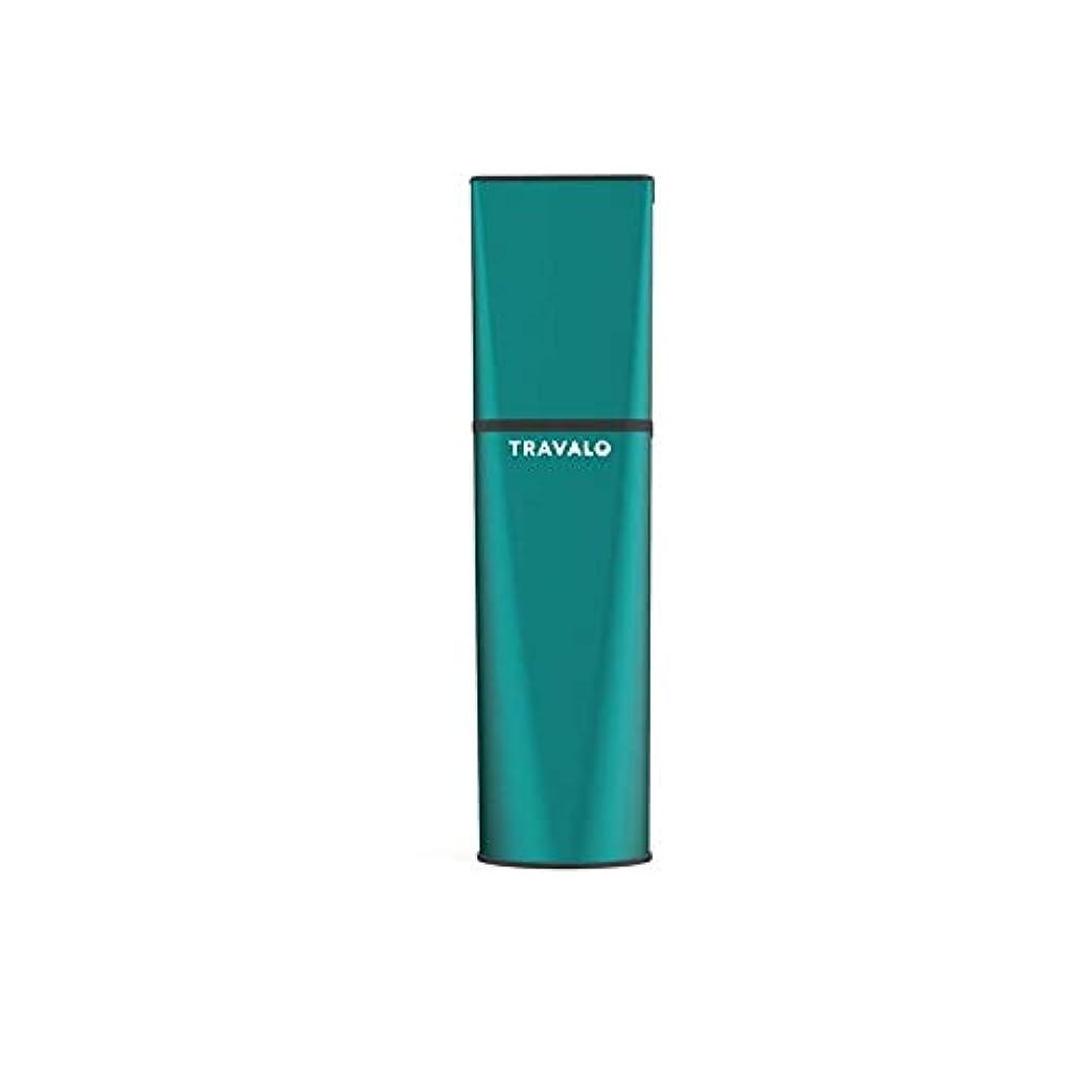 警察署却下する無力TRAVALO (トラヴァ―ロ) オブスクラ アトマイザー グリーン 香水 旅行 携帯 詰め替え ボトル 簡単 香水スプレー