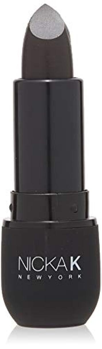 木材祈るスリーブNICKA K Vivid Matte Lipstick NMS07 Black (並行輸入品)