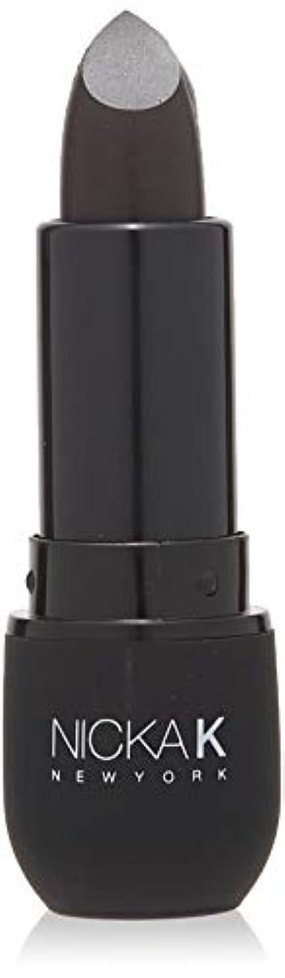 感謝海港舗装するNICKA K Vivid Matte Lipstick NMS07 Black (並行輸入品)