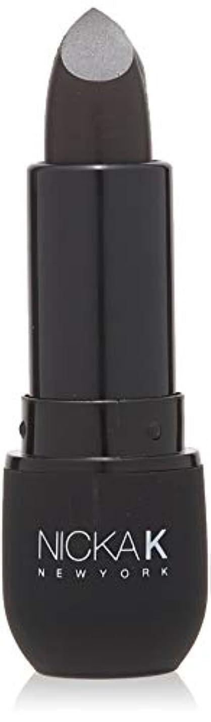 スマッシュアカデミックちょっと待ってNICKA K Vivid Matte Lipstick NMS07 Black (並行輸入品)