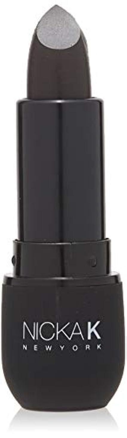 正気ギャングスター負NICKA K Vivid Matte Lipstick NMS07 Black (並行輸入品)