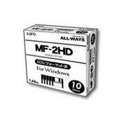 ALLWAYS 3.5インチ フロッピーディスクメディア 1.44MB 10枚 FD35-AW