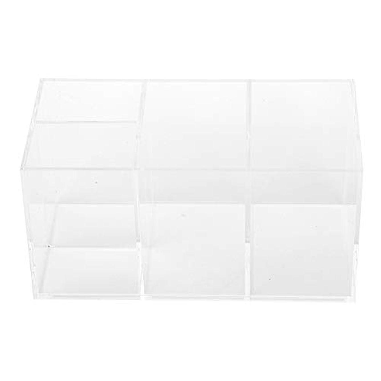 サージ単に節約ポータブル耐久性のあるネイルアート収納ボックス - 美しいデスクトップネイルアートオーガナイザーボックス