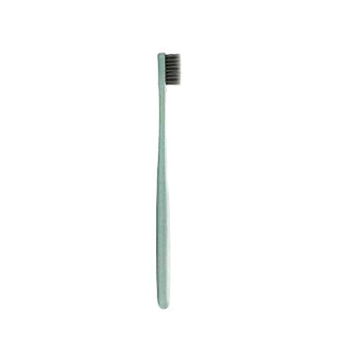 ヒューズそこ宗教的なK-666小麦わらの歯ブラシ歯のクリーニングブラシ竹炭毛ブラシ環境に優しいブラシ歯のケア - ピンク