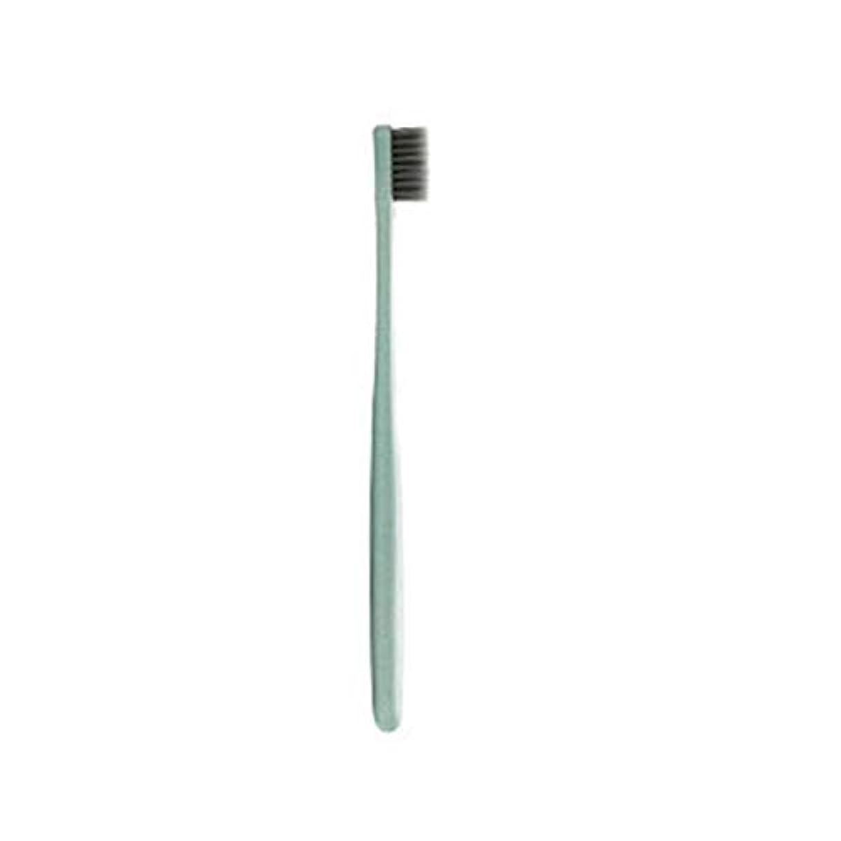 いつもちっちゃい葉K-666小麦わらの歯ブラシ歯のクリーニングブラシ竹炭毛ブラシ環境に優しいブラシ歯のケア - ピンク