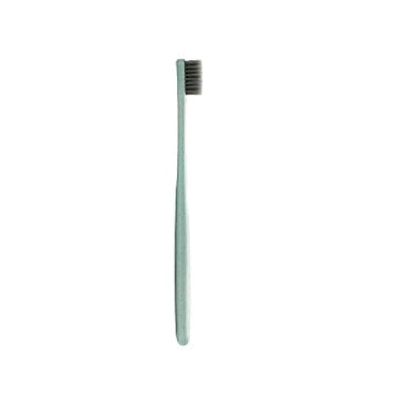 良い男やもめメンタルK-666小麦わらの歯ブラシ歯のクリーニングブラシ竹炭毛ブラシ環境に優しいブラシ歯のケア - ピンク