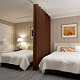 (2.6mx2.7m, Chocolate) - RHF Privacy Room Divider Curtain 2.6m Wide x 2.7m tall: No one can see through, Total Privacy(8.5x9 Chocolate)
