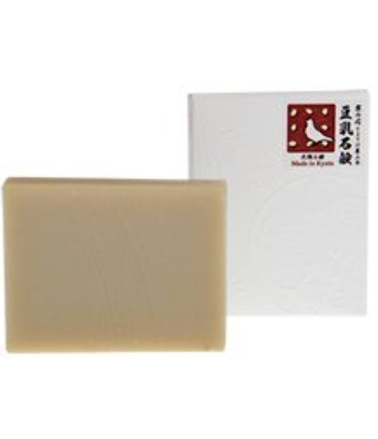 余韻哺乳類ボタン豆乳石鹸 石鹸屋(京都しゃぼんや×とようけ屋山本)洗顔石鹸
