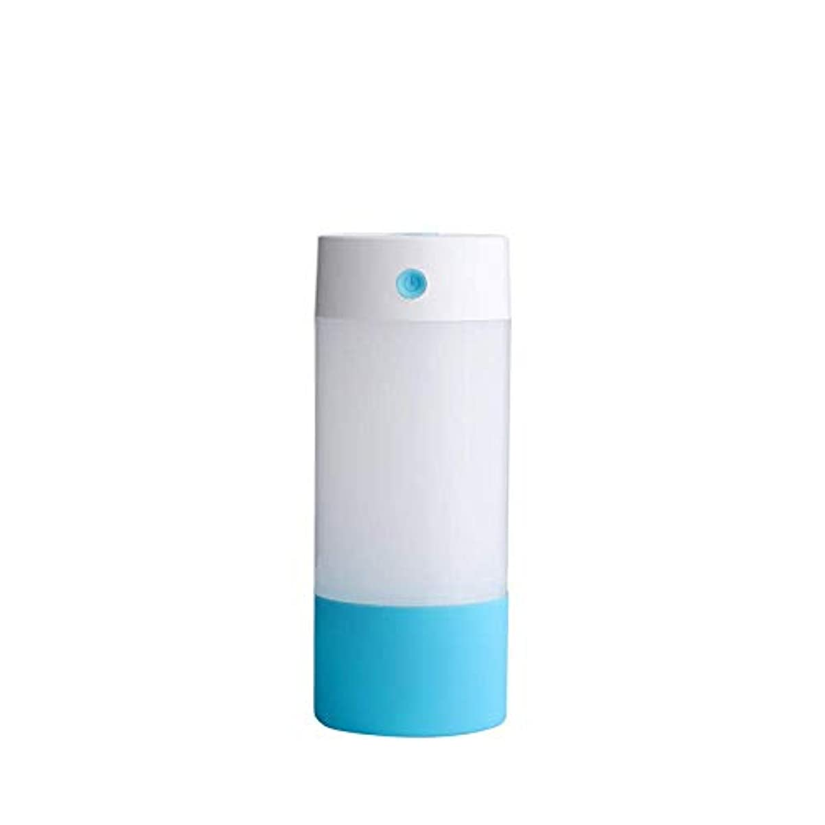 除去評決納税者SOTCE アロマディフューザー加湿器超音波霧化技術のライトカー満足のいく解決策連続霧モード湿潤環境 (Color : Blue)
