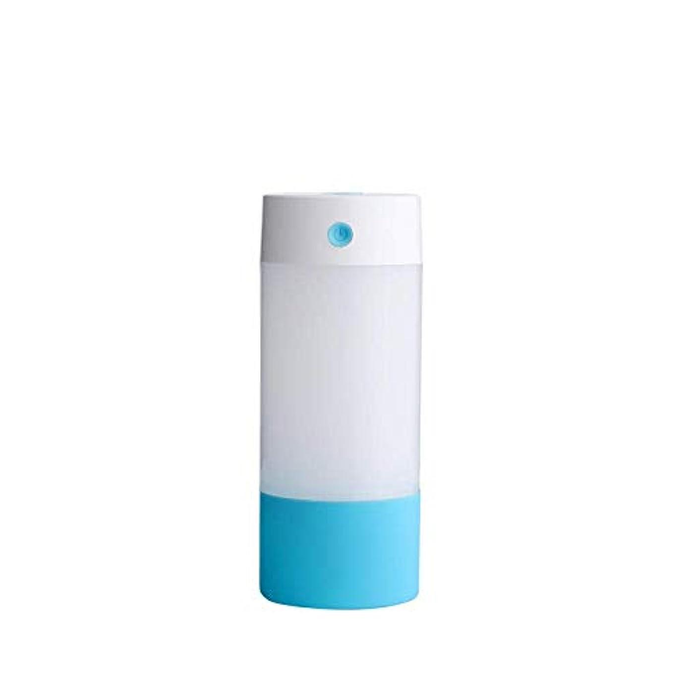 レタス疑い者カプラーSOTCE アロマディフューザー加湿器超音波霧化技術のライトカー満足のいく解決策連続霧モード湿潤環境 (Color : Blue)