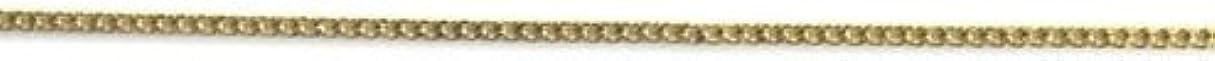 バーゲン露骨なショートカットプリティーネイル ネイルアートパーツ プレーンチェーンSS ゴールド 1m 1個