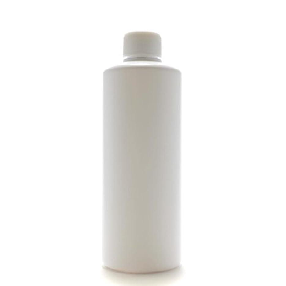 スリル階下純粋なプラスチック容器 300mL PE ストレートボトル ホワイト【スクリューキャップ:ホワイト 中栓付き】