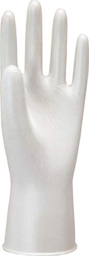 現れるショットくるみモデルローブNo910天然ゴム使いきり手袋粉つき100枚入ホワイトL