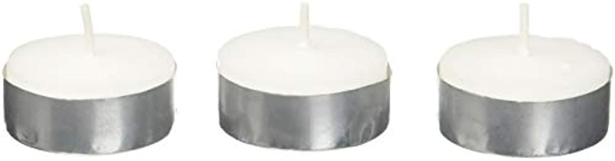 アルプス残高社会主義者Zest Candle CTZ-008 White Citronella Tealight Candles -100pcs-Box
