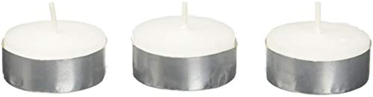 経歴完了シソーラスZest Candle CTZ-008 White Citronella Tealight Candles -100pcs-Box