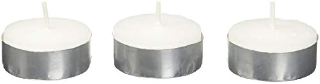 対話けん引予報Zest Candle CTZ-008 White Citronella Tealight Candles -100pcs-Box