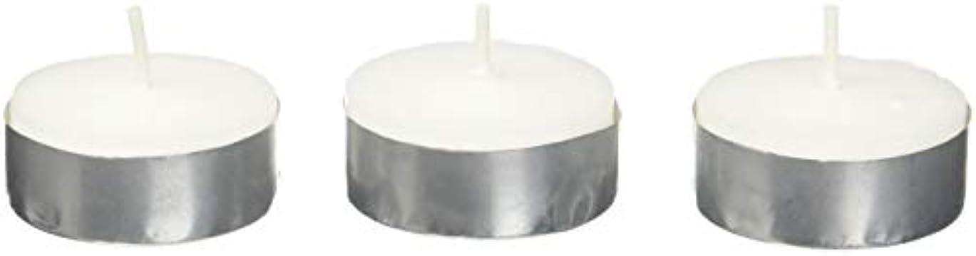 ケイ素上院議員確立しますZest Candle CTZ-008 White Citronella Tealight Candles -100pcs-Box