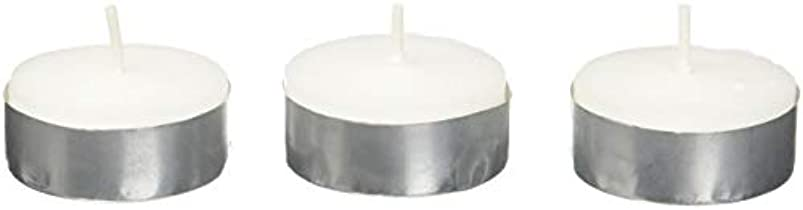 従来の看板ヤングZest Candle CTZ-008 White Citronella Tealight Candles -100pcs-Box