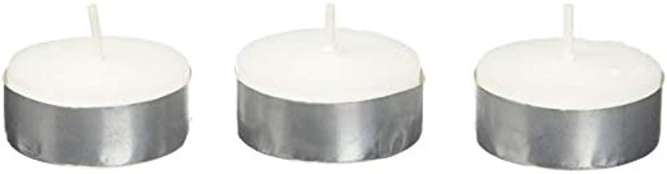 振り向くシェトランド諸島キャロラインZest Candle CTZ-008 White Citronella Tealight Candles -100pcs-Box