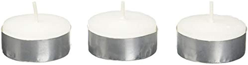 調和モノグラフ不快なZest Candle CTZ-008 White Citronella Tealight Candles -100pcs-Box
