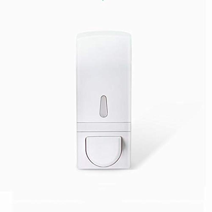 外側リスリビングルームせっけん ソープディスペンサーフリーパンチ壁掛け手動泡ソープディスペンサーハンドサニタイザーボックスバスルームキッチンソープディスペンサー600 mlホワイト 新しい