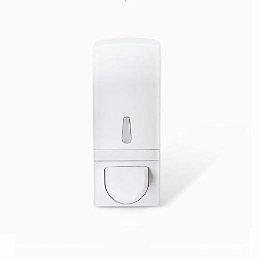 成功する管理する風邪をひくせっけん ソープディスペンサーフリーパンチ壁掛け手動泡ソープディスペンサーハンドサニタイザーボックスバスルームキッチンソープディスペンサー600 mlホワイト 新しい