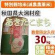 特別栽培米 秋田県大潟村産 1等米あきたこまち玄米 30kg