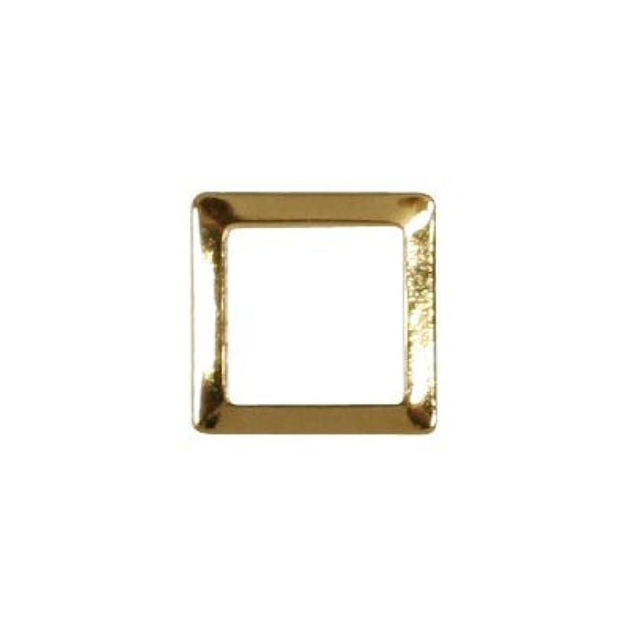 思いやりのあるぼろ生産性ピアドラ スタッズ スクエア 中抜き 3mm 50P ゴールド