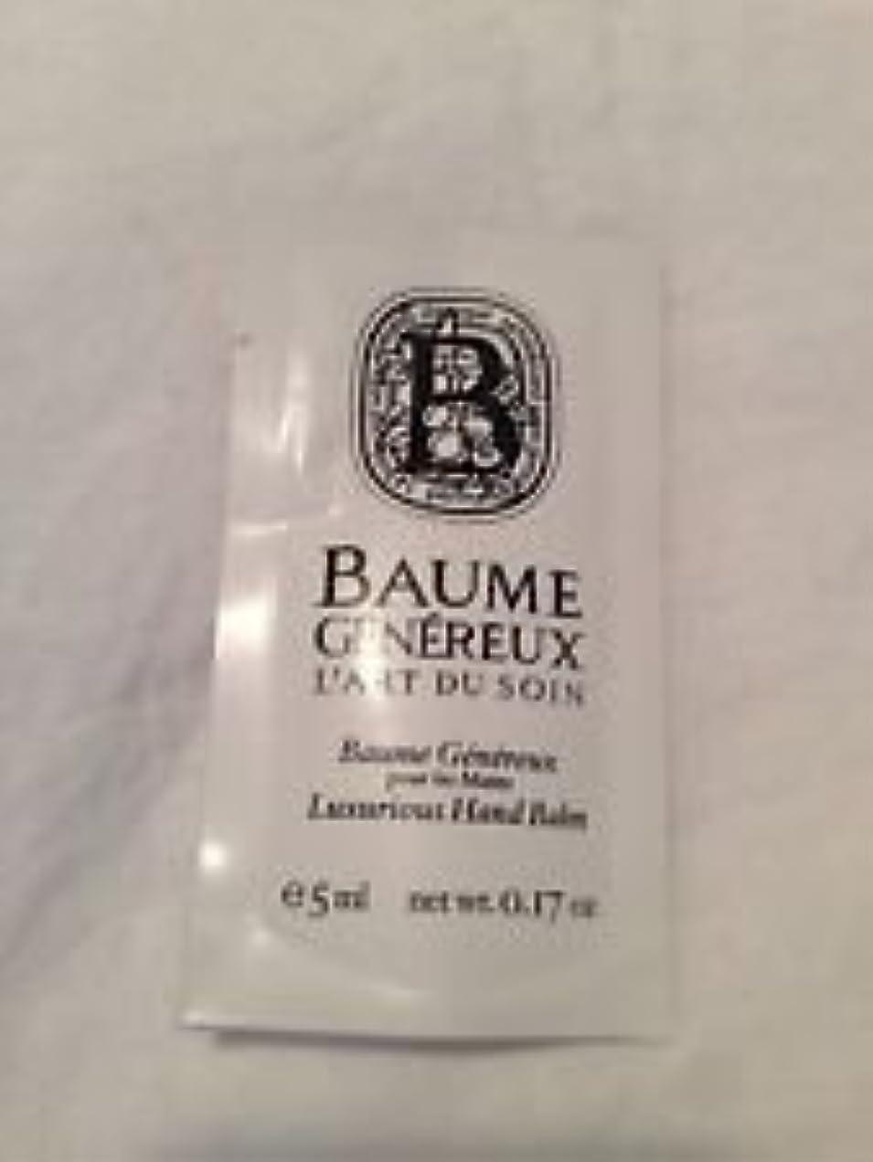 控えるプラットフォーム息切れDiptyque Baume Genereux (ディプティック ボーム ジェネリュク) 0.17 oz (5ml) ハンドバルム サンプル for Women