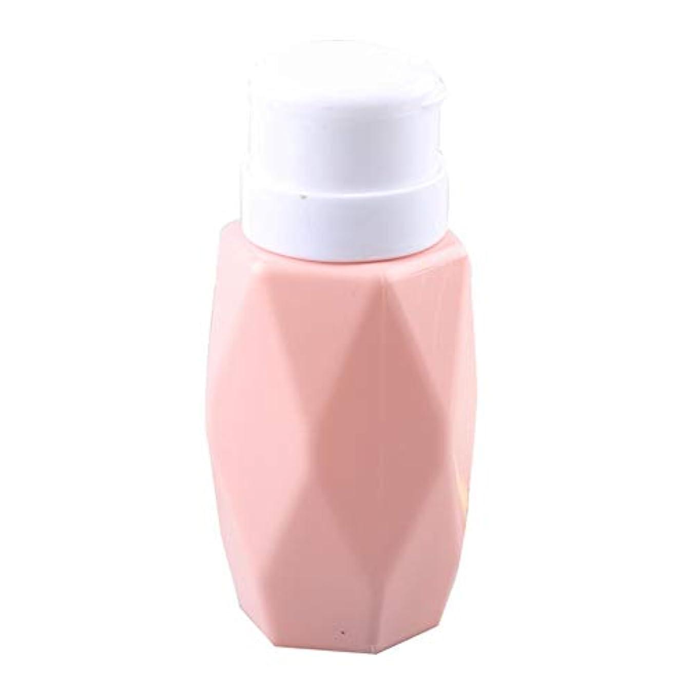 値する優しいくるくるSODAOA屋 200ml リットル空ポンプ ボトル ネイルクリーナーボトル ポンプディスペンサー200ml ジェルクリーナー ジェルリムーバ 可愛い ファッション 人気(ピンク)