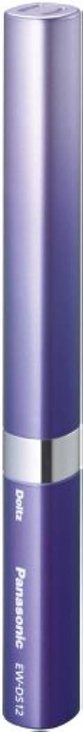 符号膨らみクリケットパナソニック ポケットドルツ 音波振動ハブラシ バイオレット EW-DS12-V