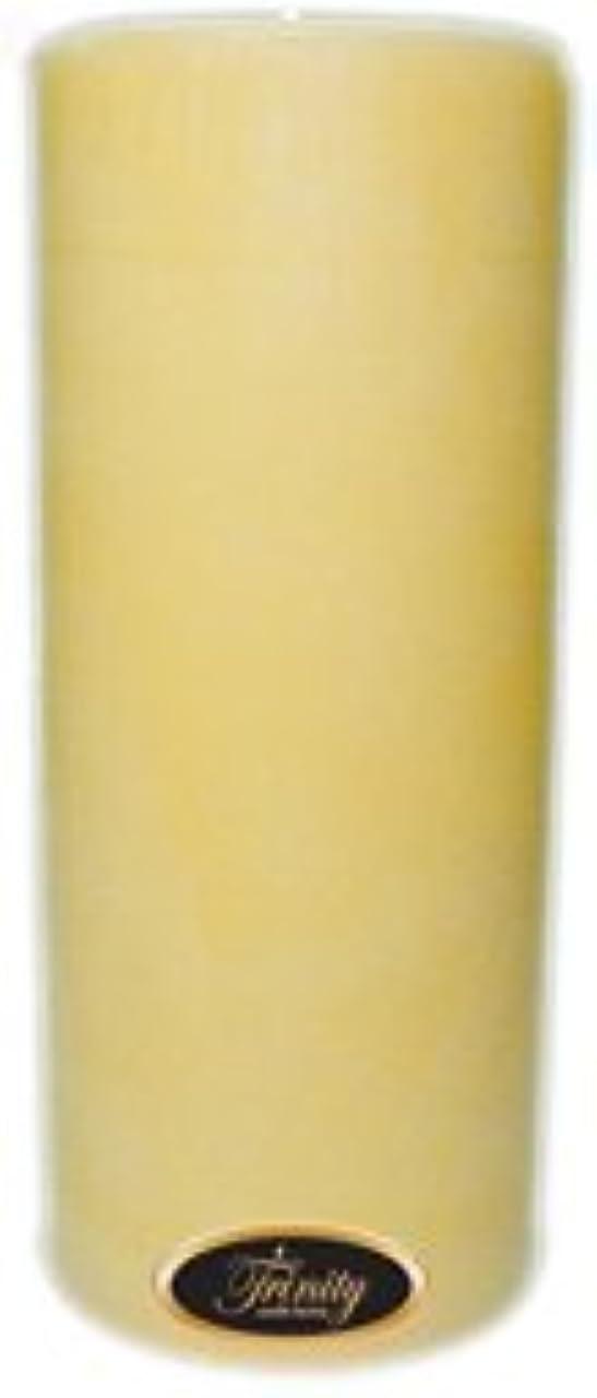 単なるガラスいろいろTrinity Candle工場 – クリーミーバニラ – Pillar Candle – 4 x 9