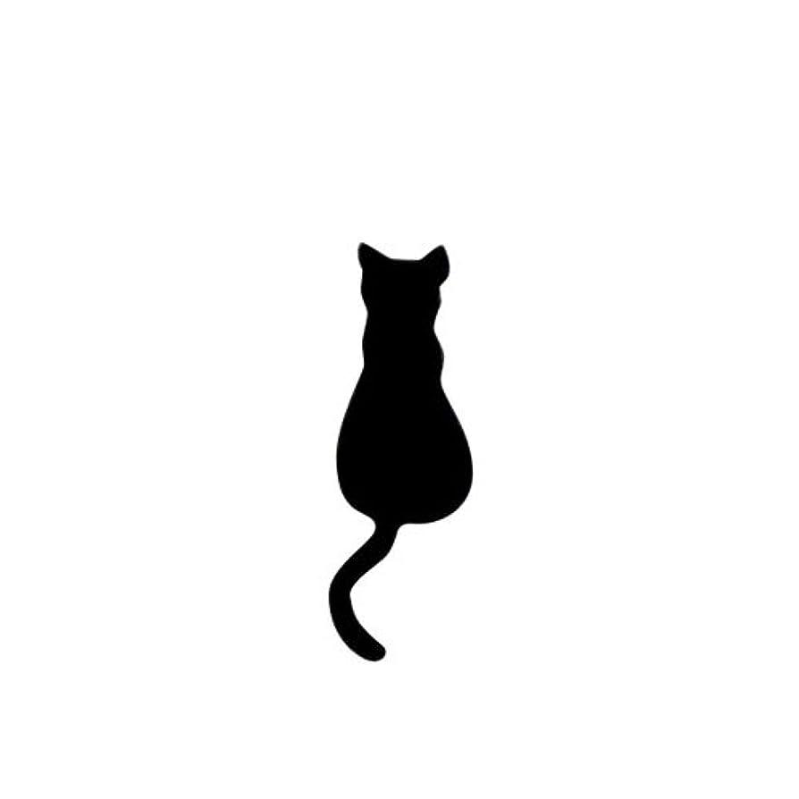 浸透するみなす安らぎリトルプリティー ネイルアートパーツ 猫4 ブラック 10個