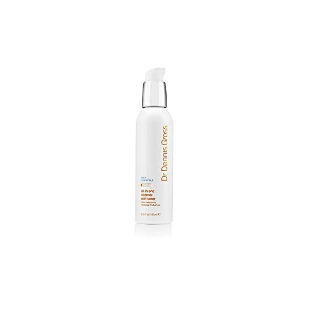 コマース消えるコンデンサーDr Dennis Gross All-In-One Facial Cleanser With Toner (180ml) (Pack of 6) - デニスグロスオールインワントナー(180ミリリットル)とフェイシャルクレンザー...